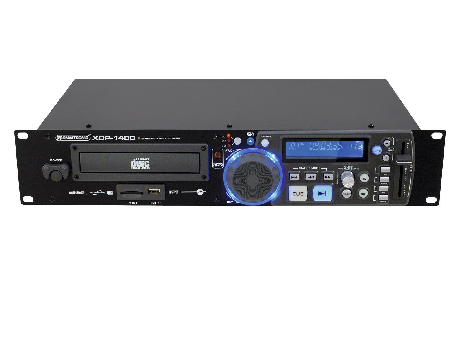 OMNITRONIC XDP-1400 CD-/MP3-Player