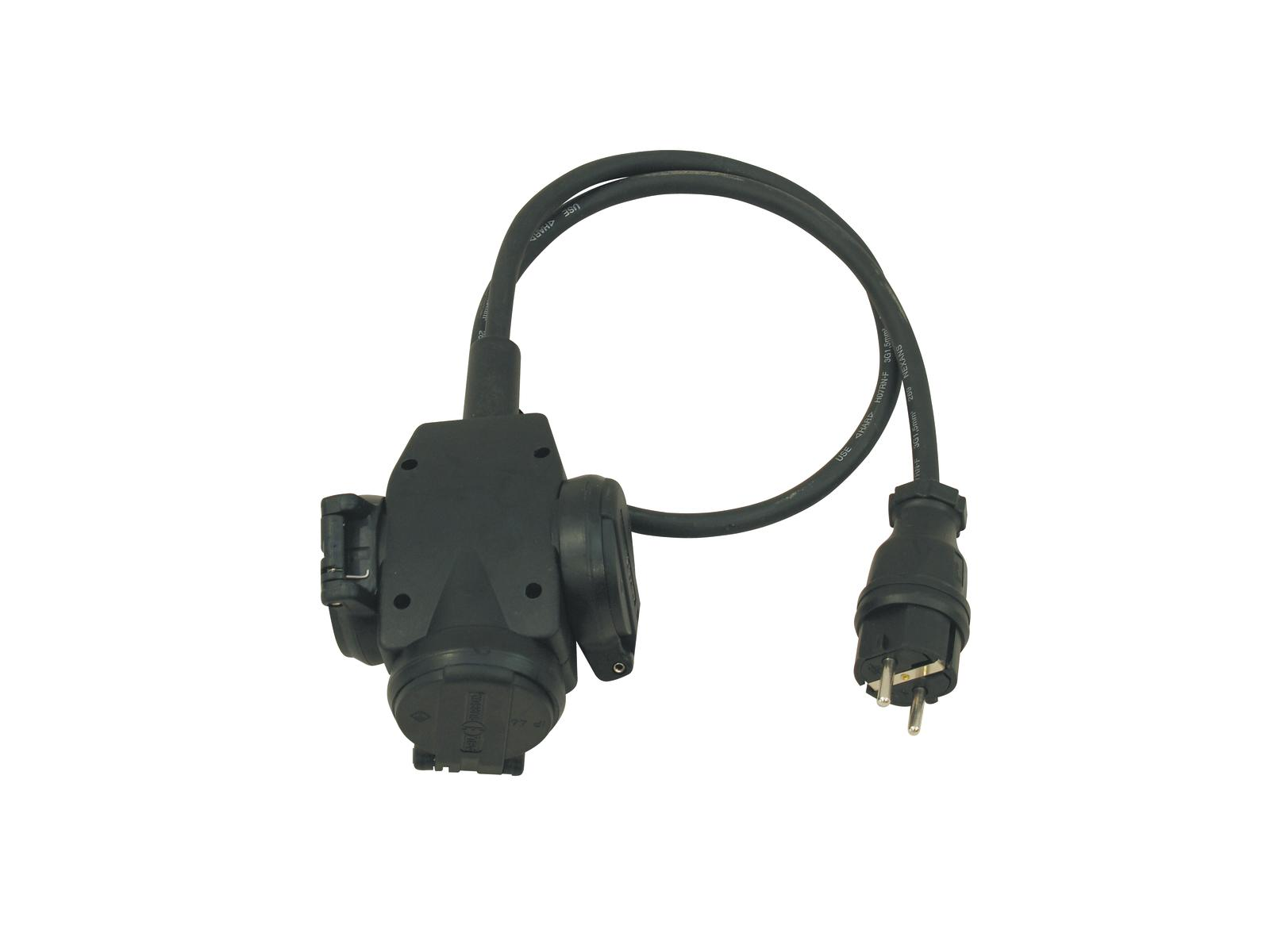 Extension PSSO 3x1,5 1M cable H07RN 250 V / 16 A triple socket