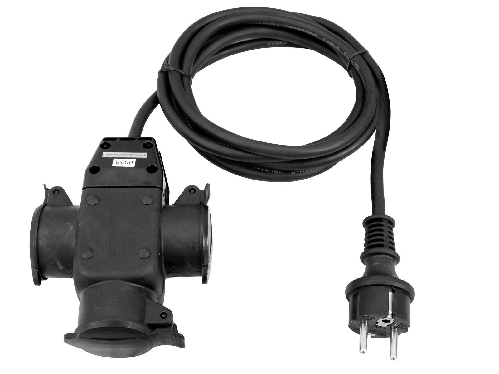 Extension power cord 3x1.5 1x Plug To 2x Plug B Eurolite 3MT