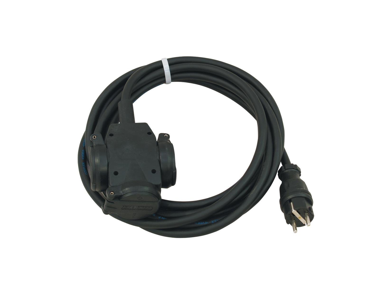 Extension PSSO 3x2,5 5M cable H07RN 250 V / 16 A triple socket