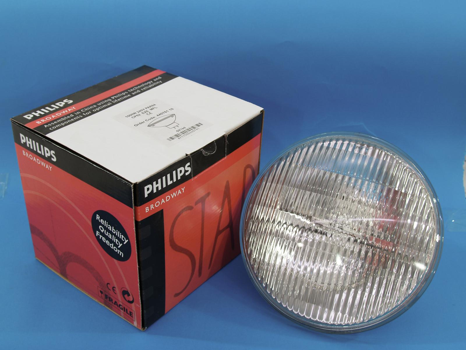 Lampada Faro PHILIPS CP62 PAR 64/240V 1000W MFL 300h 3200 k,