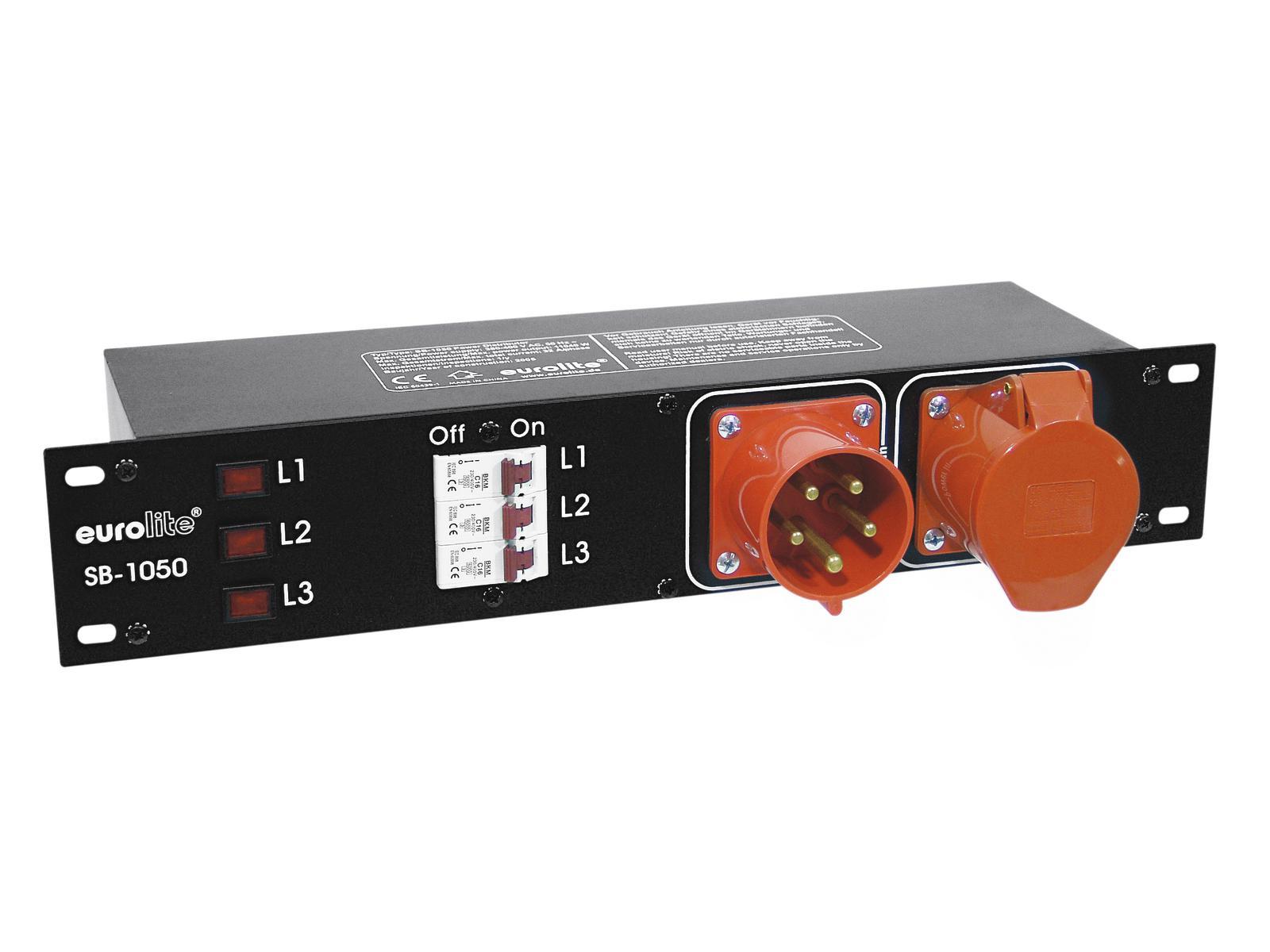 Power distributor EUROLITE 32A in the housing 483mm rack mount