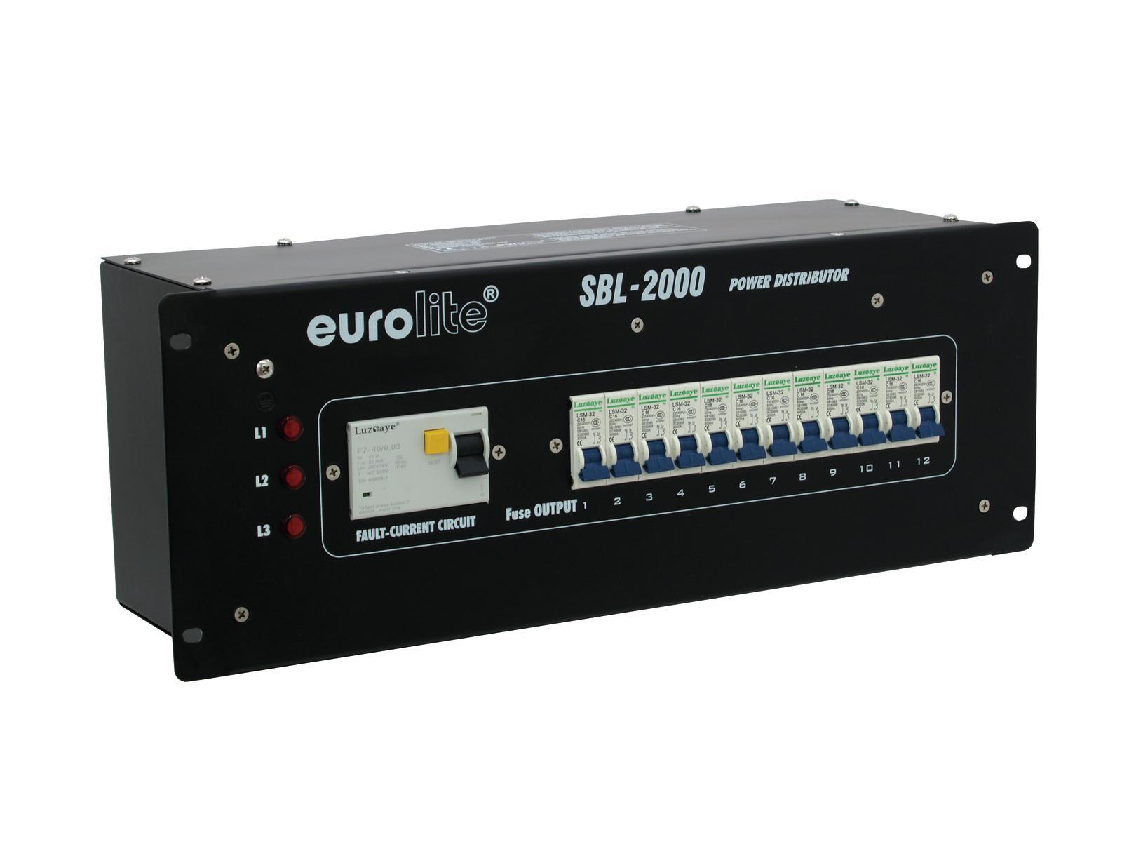 Power distributor EUROLITE 32A SBL-2000