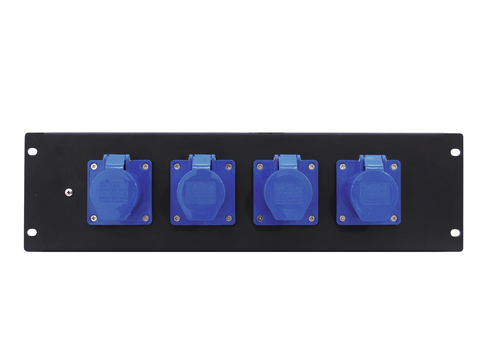 Power distributor EUROLITE wall or panel-3U-4CEE 16A 3pin
