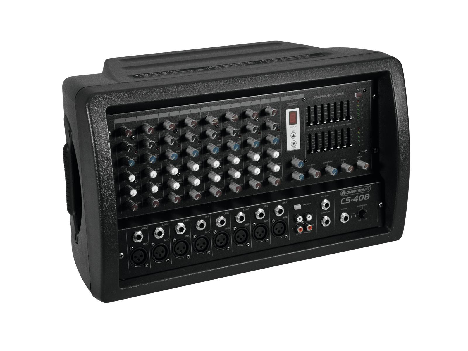 Mixer attivo amplificato 8 canali 200 watt OMNITRONIC CS-408