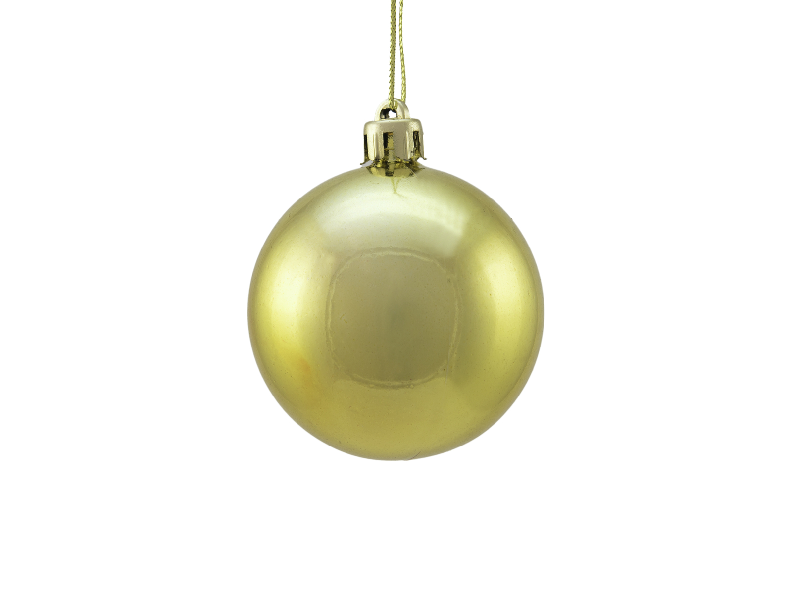 Balls Balls christmas plastic 6Cm for Tree decoration 6 pcs metallic Gold