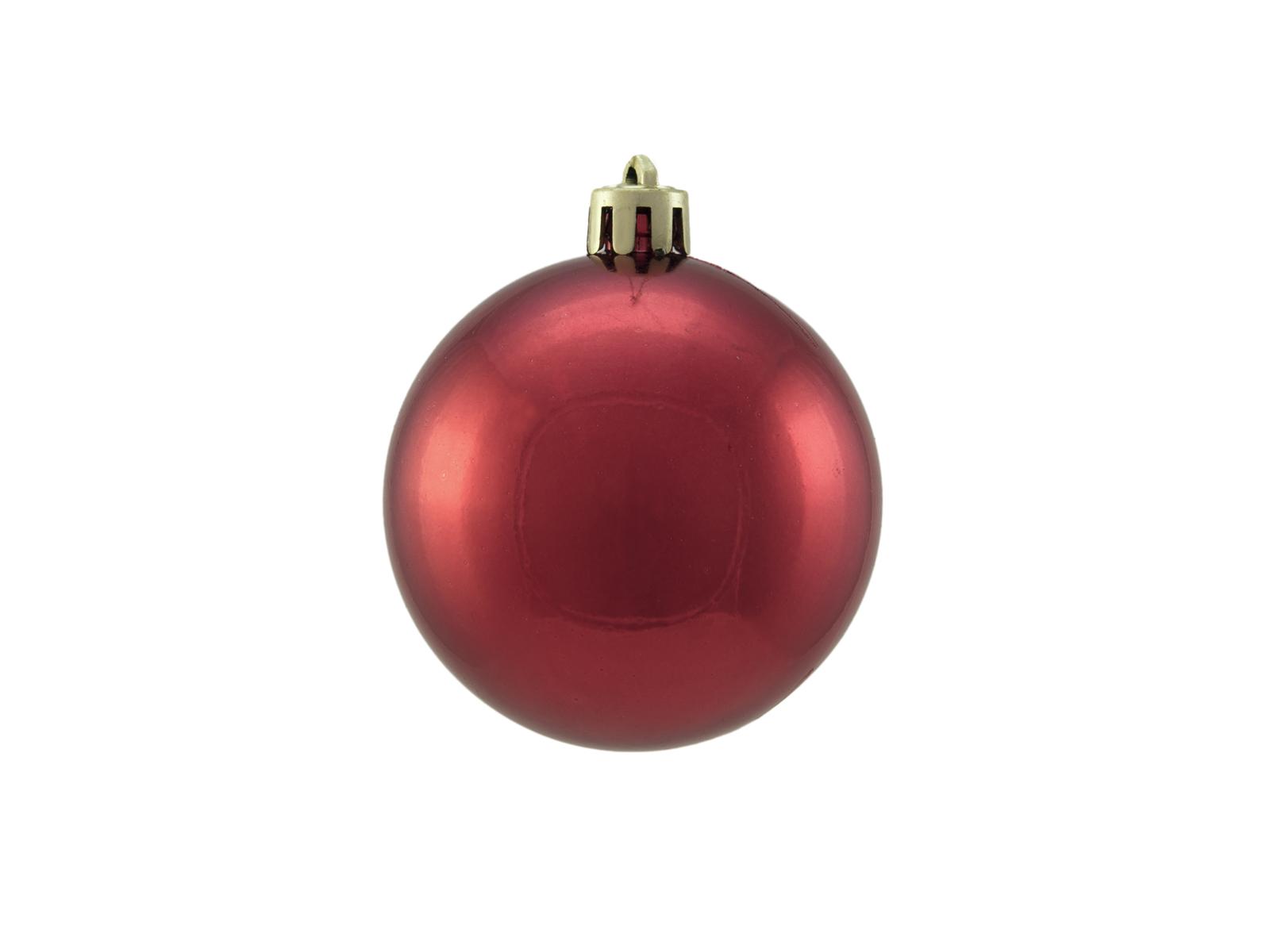 Balls Balls christmas plastic 6Cm for Tree decoration 6 pcs Rossometallico
