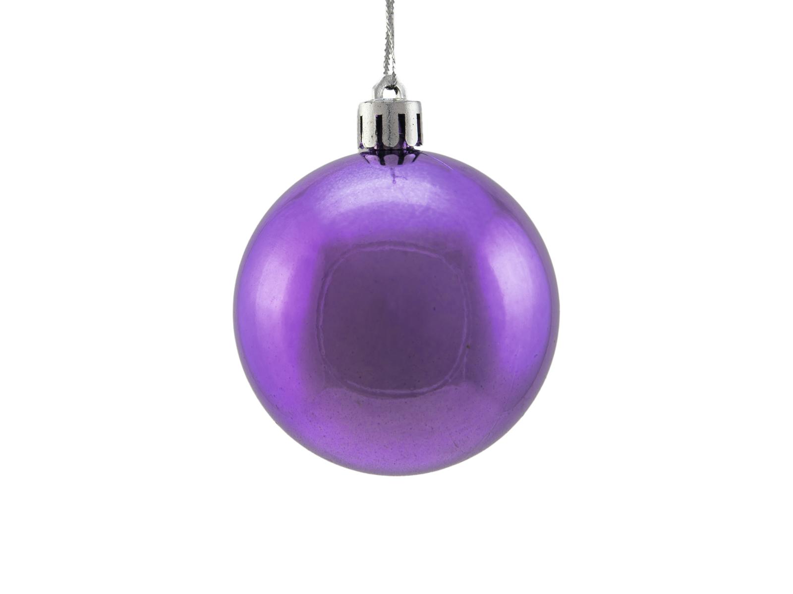 Balls Balls christmas plastic 6Cm for Tree decoration 6 pcs Violametallico