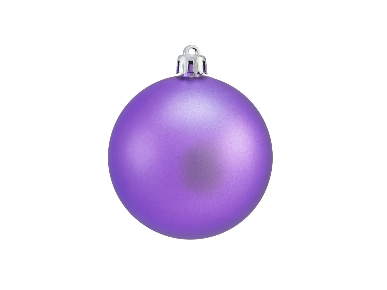 Balls Balls christmas plastic 7Cm for Tree decoration 6 pcs Violametallico