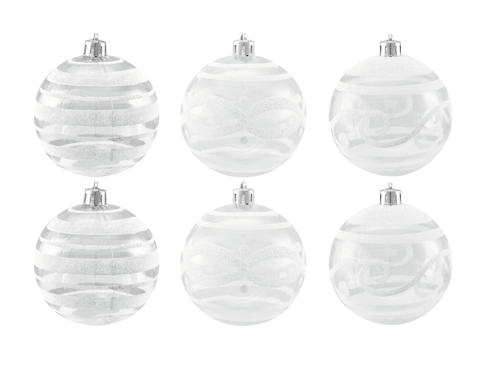Balls Balls christmas plastic 7Cm for Tree decoration 6 pcs Transparent