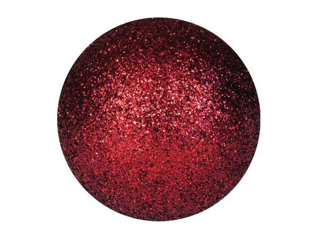 EUROPALMS Decoball 3,5 cm, rosso, glitter 48x