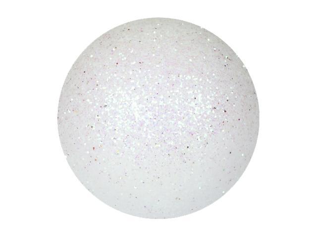 EUROPALMS Decoball 3,5 cm, bianco, glitter 48x