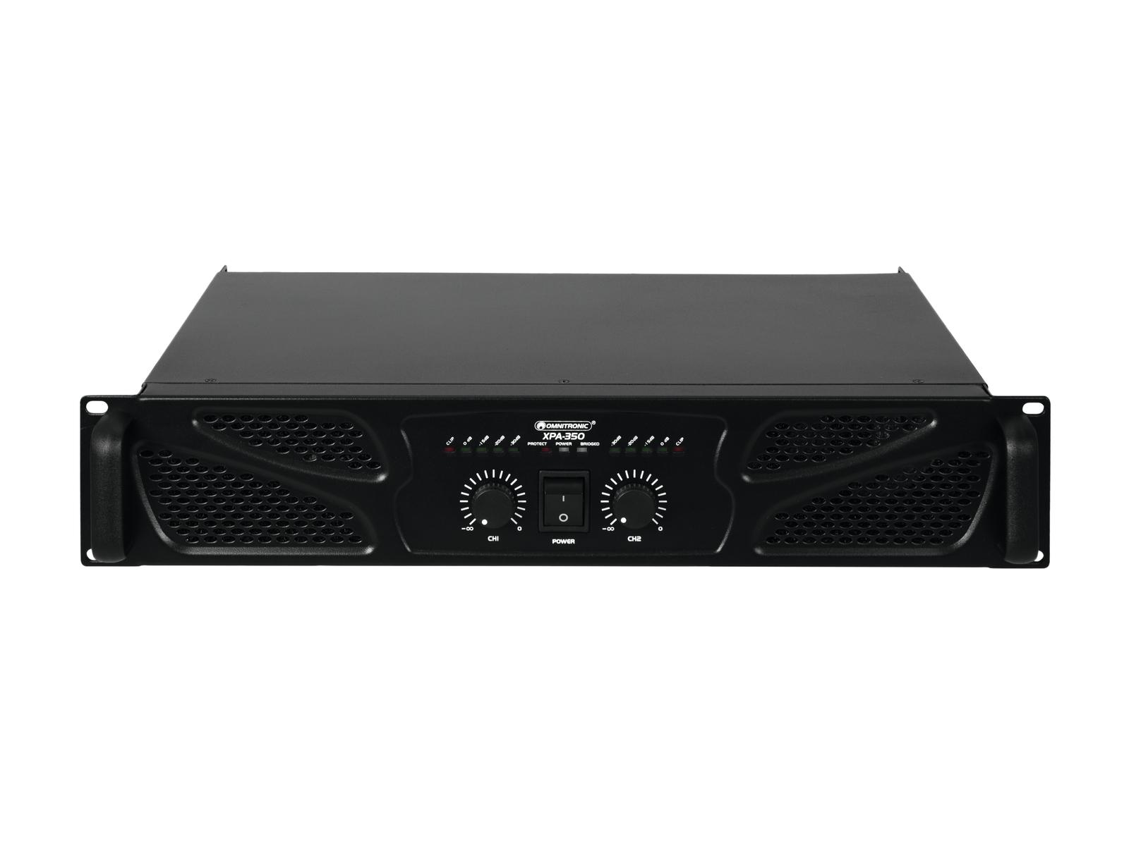 Amplificatore Finale Di potenza 4 ohm 8 ohm stereo o bridge 350 watt Omnitronic
