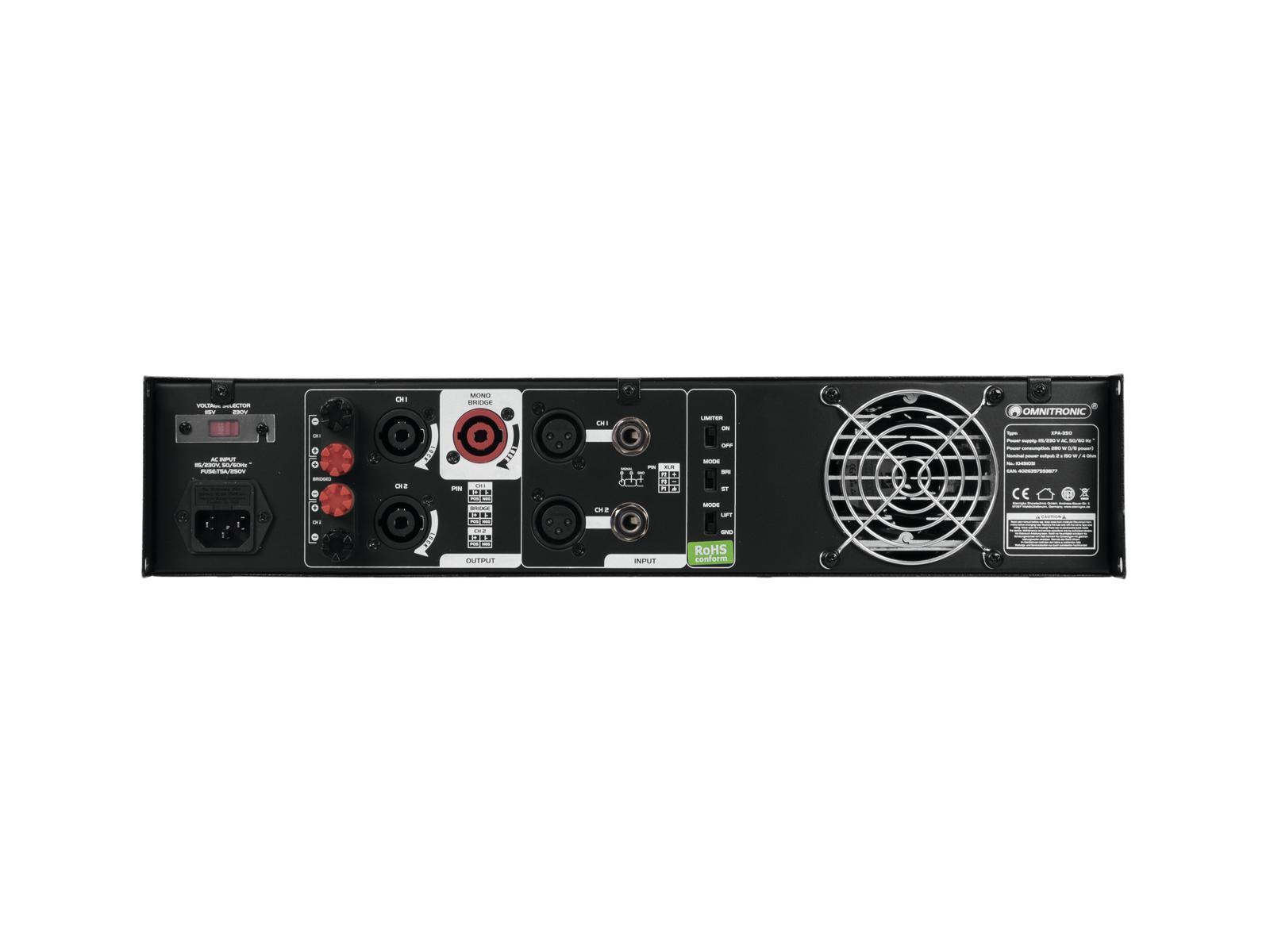 OMNITRONIC XPA-350 Endstufe
