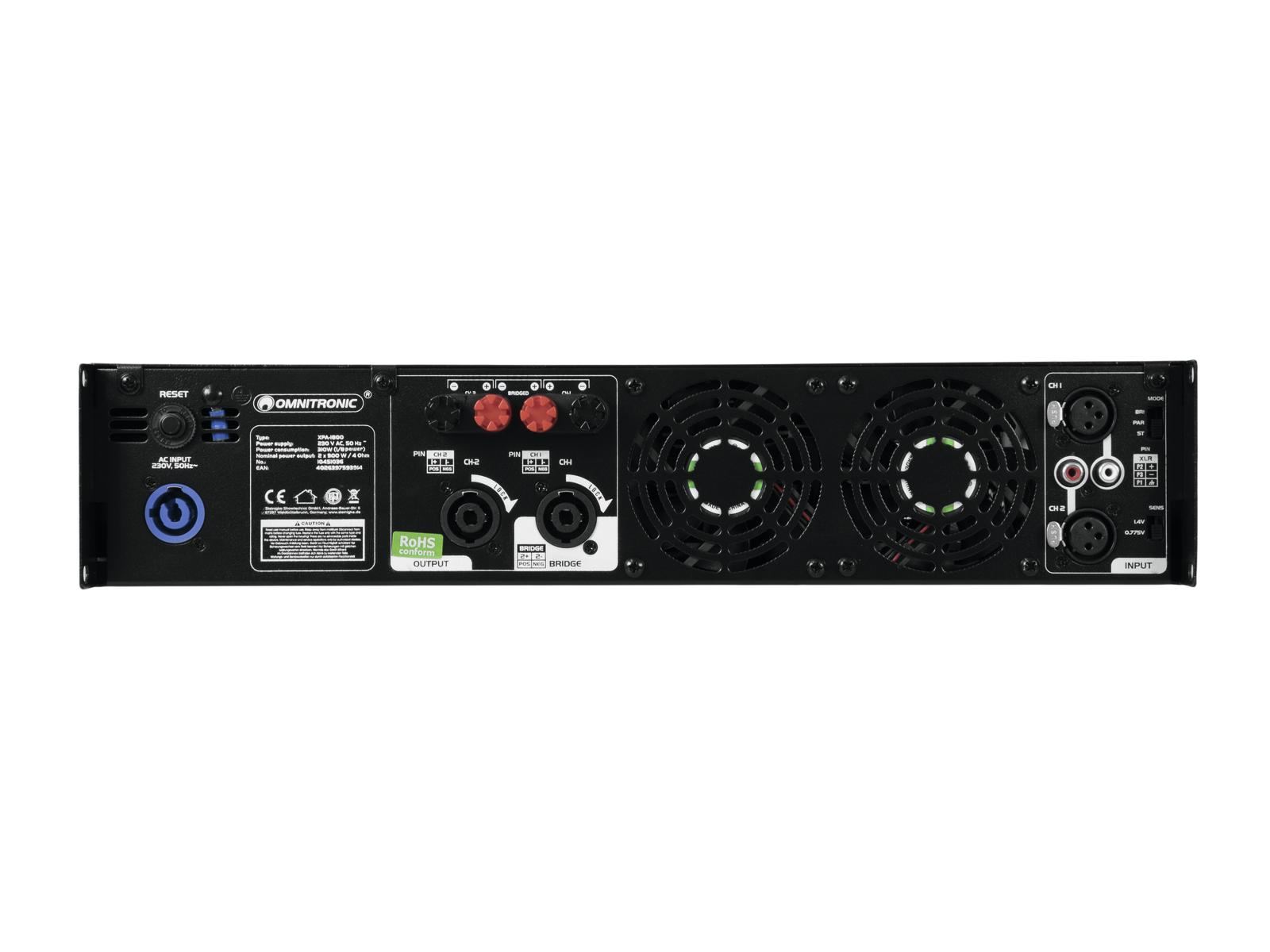 OMNITRONIC XPA-1800 Endstufe