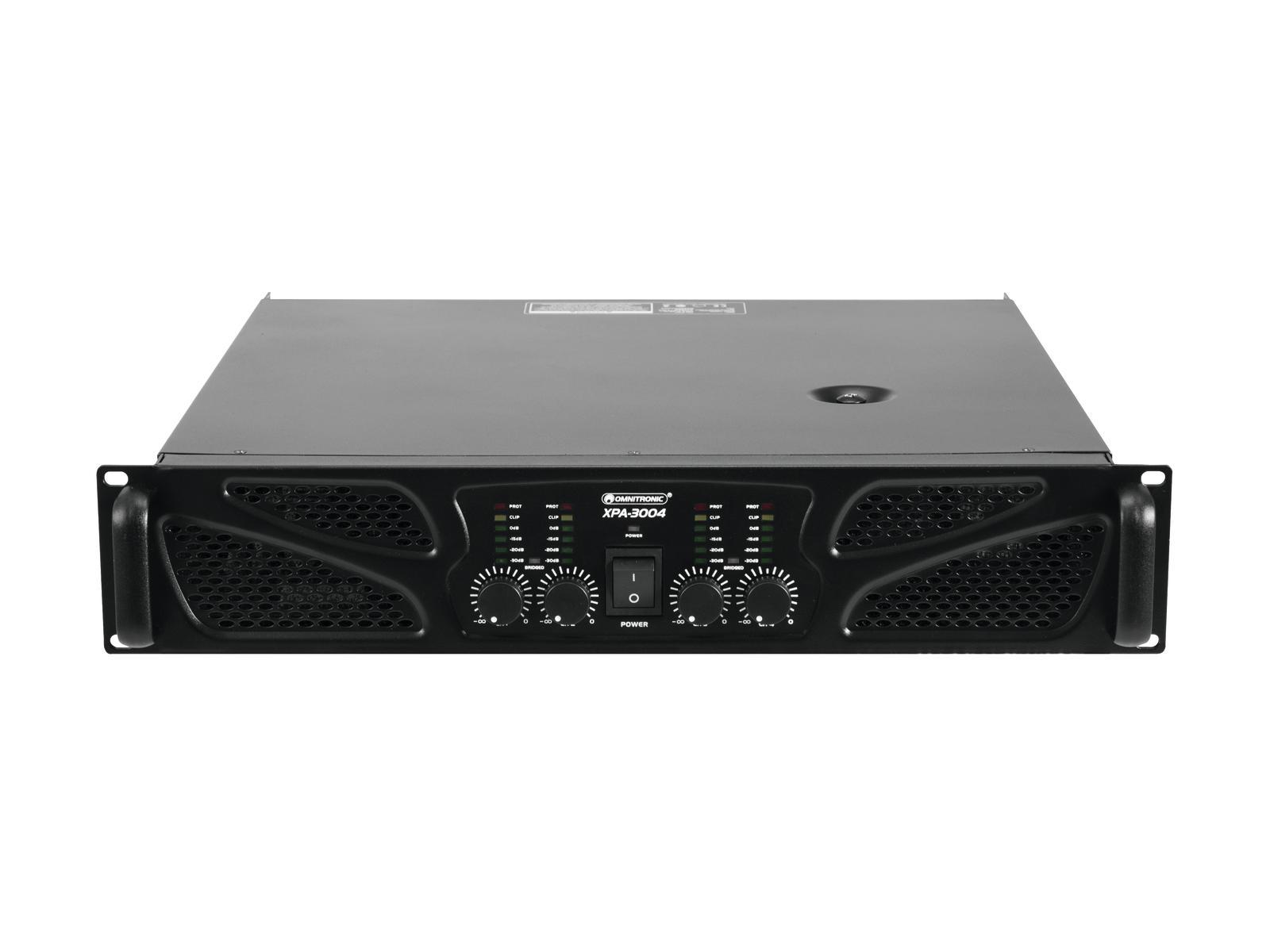 Amplificatore Finale di potenza professionale 3000watt XPA-3004 Omnitronic
