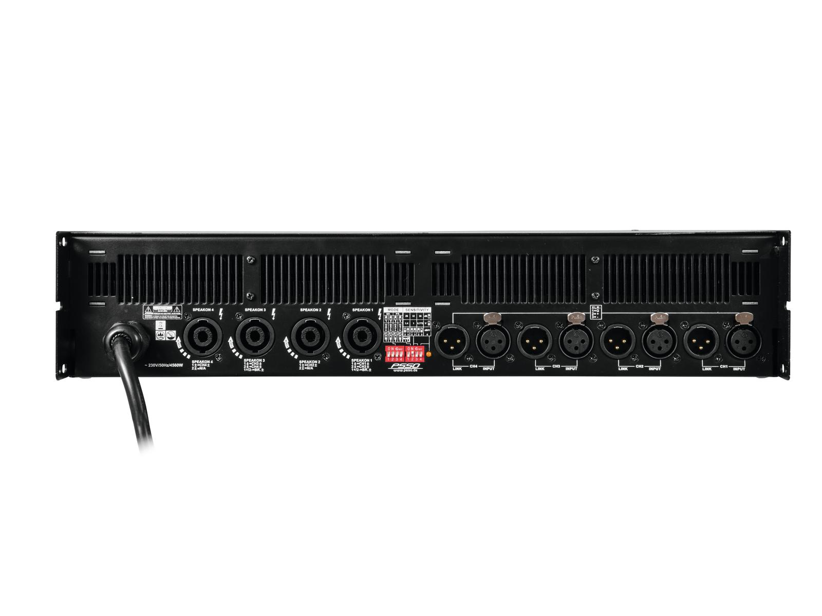 PSSO QCA-10000 4-Kanal-Endstufe SMPS