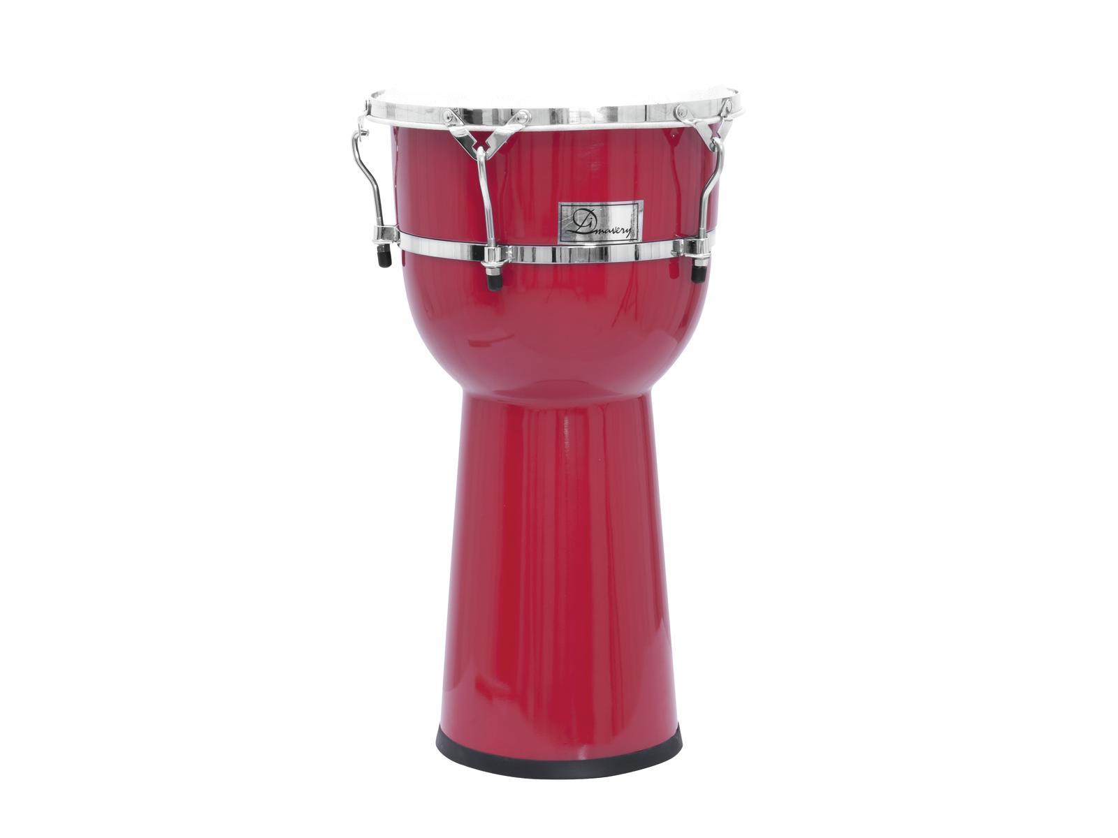 Djembe, tamburo, bongo, in plastica, rosso, DIMAVERY DJC-112