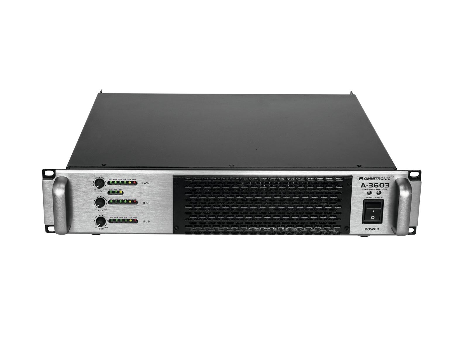 OMNITRONIC A-3603 Classe D Amplificatore 2.1