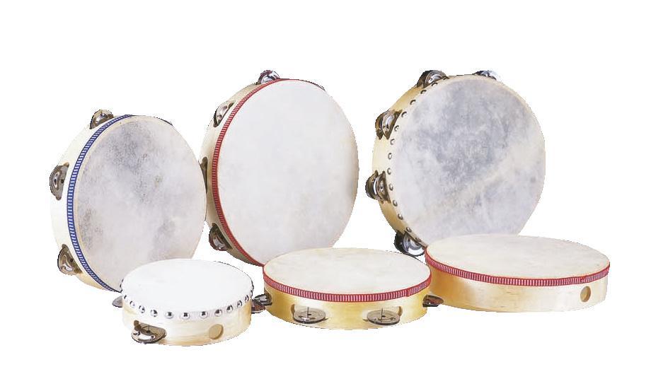 Tamburello 25 cm, tamburo pelle naturale DIMAVERY DTH-106