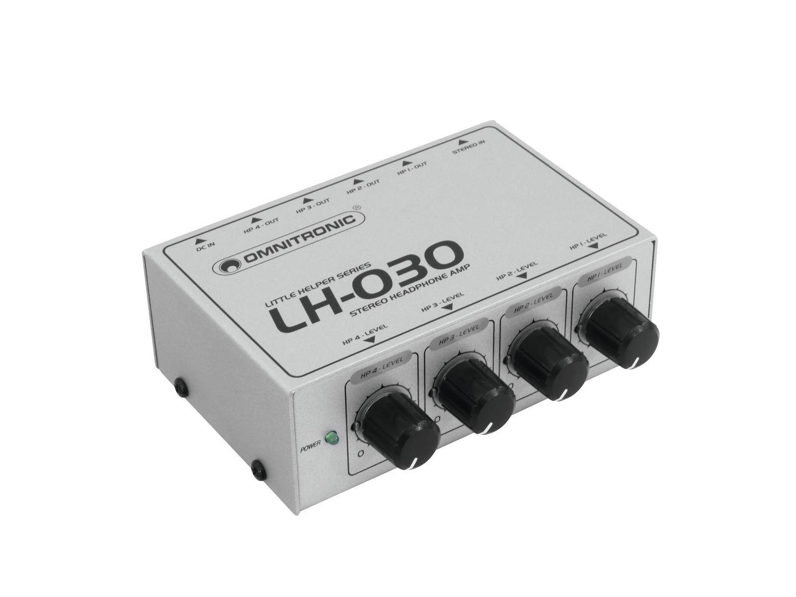 amplificatore per cuffie 4 canali OMNITRONIC LH-030