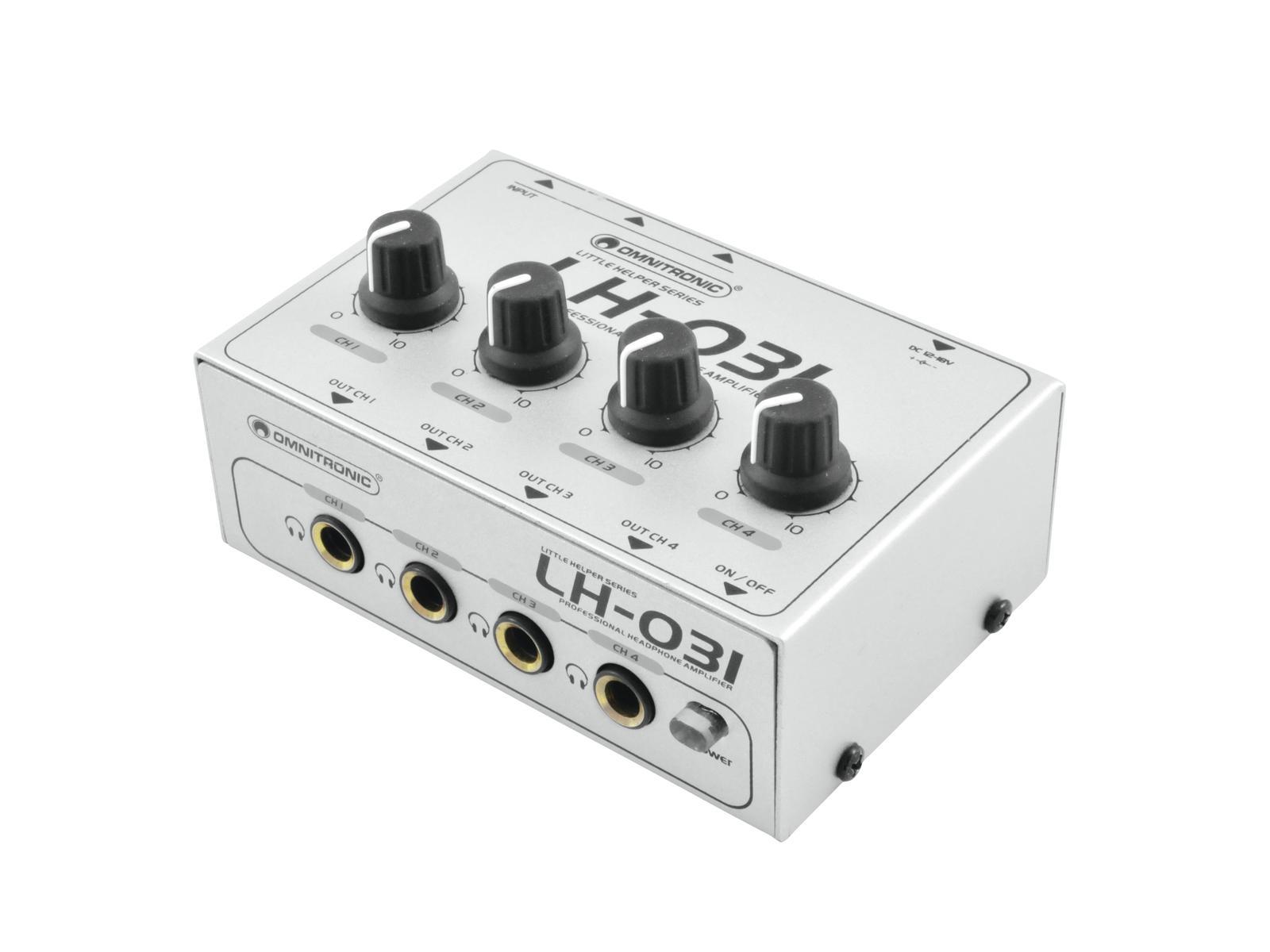 OMNITRONIC LH-031 amplificatore per Cuffie