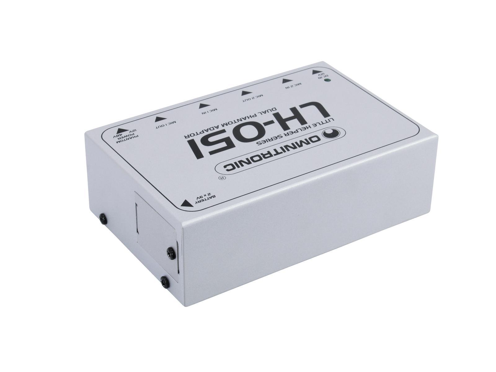 OMNITRONIC LH-051 Dual adattatore di alimentazione phantom