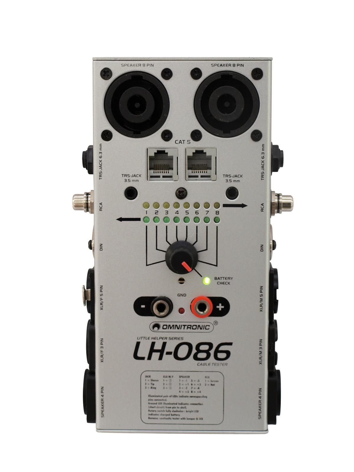 OMNITRONIC LH-086 Kabeltester