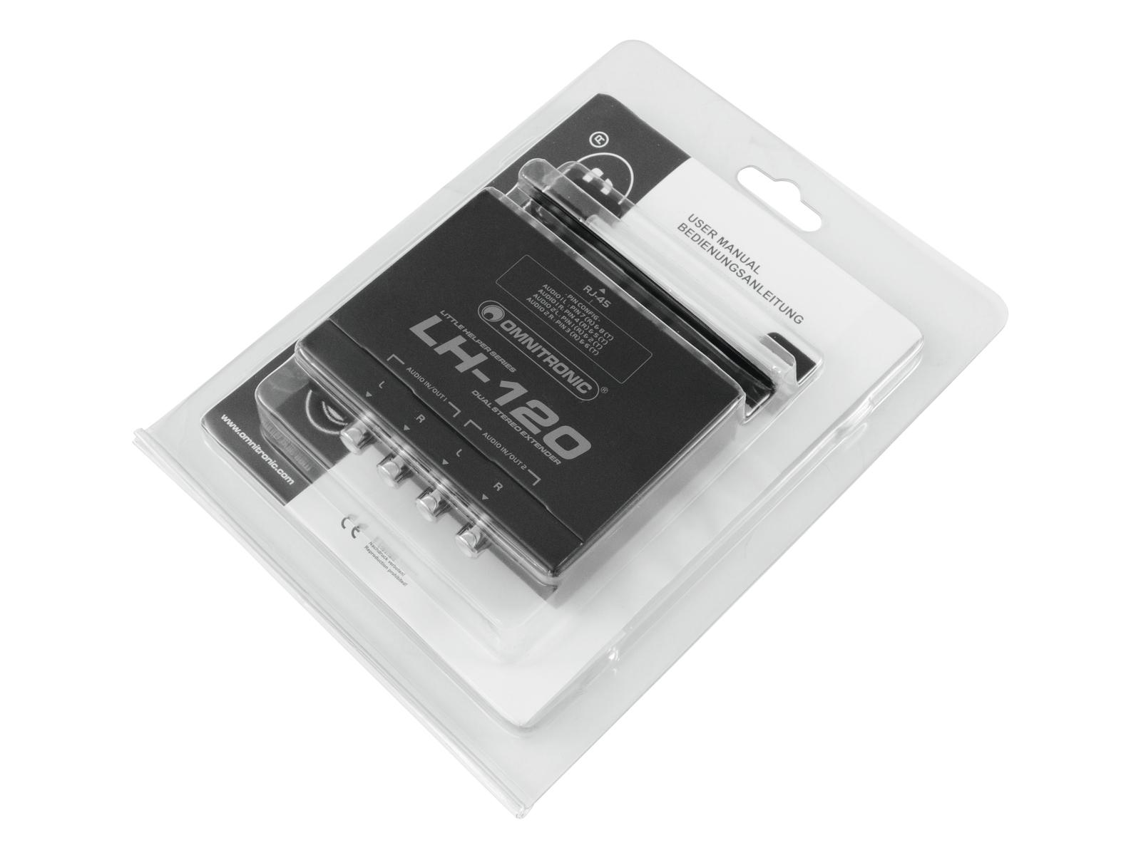 OMNITRONIC LH-120 stereo Doppio extender
