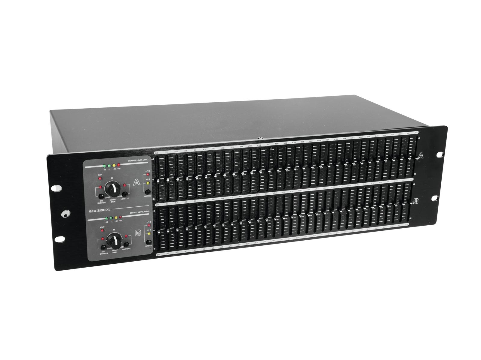 OMNITRONIC GEQ-2310XL Equalizzatore 2x31 bande