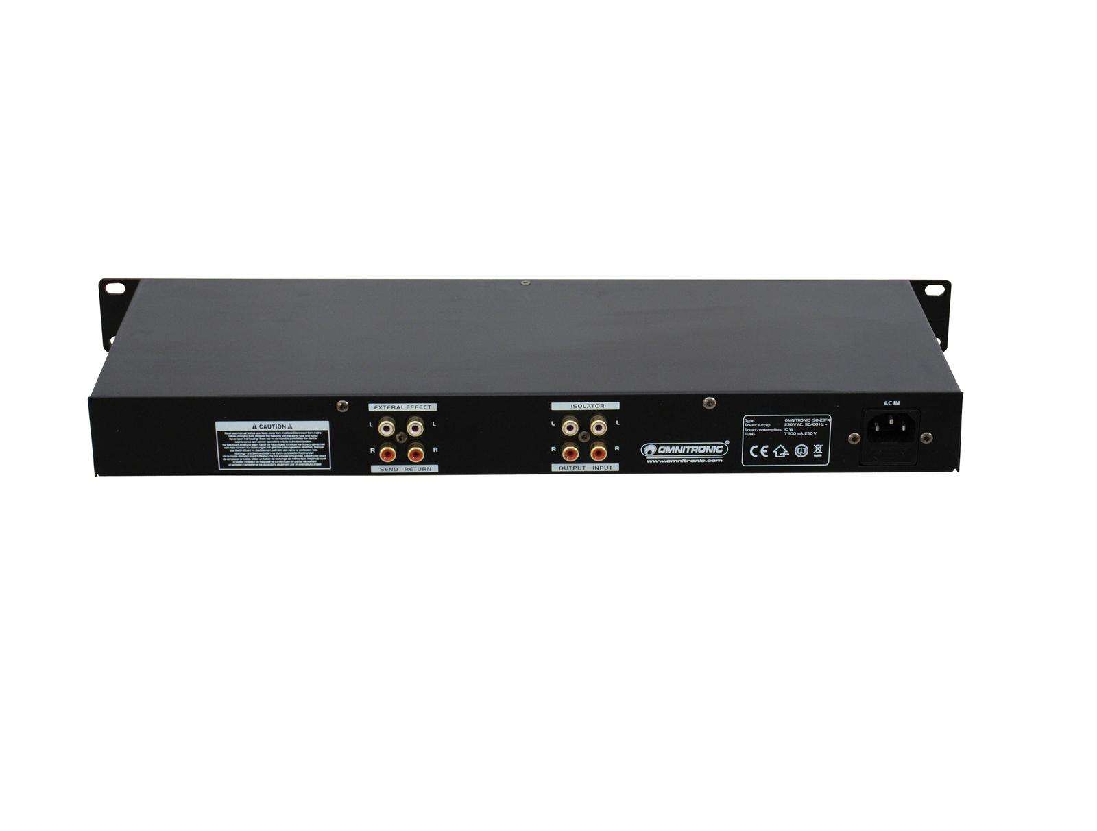 OMNITRONIC ISO-23FX DJ isolatore