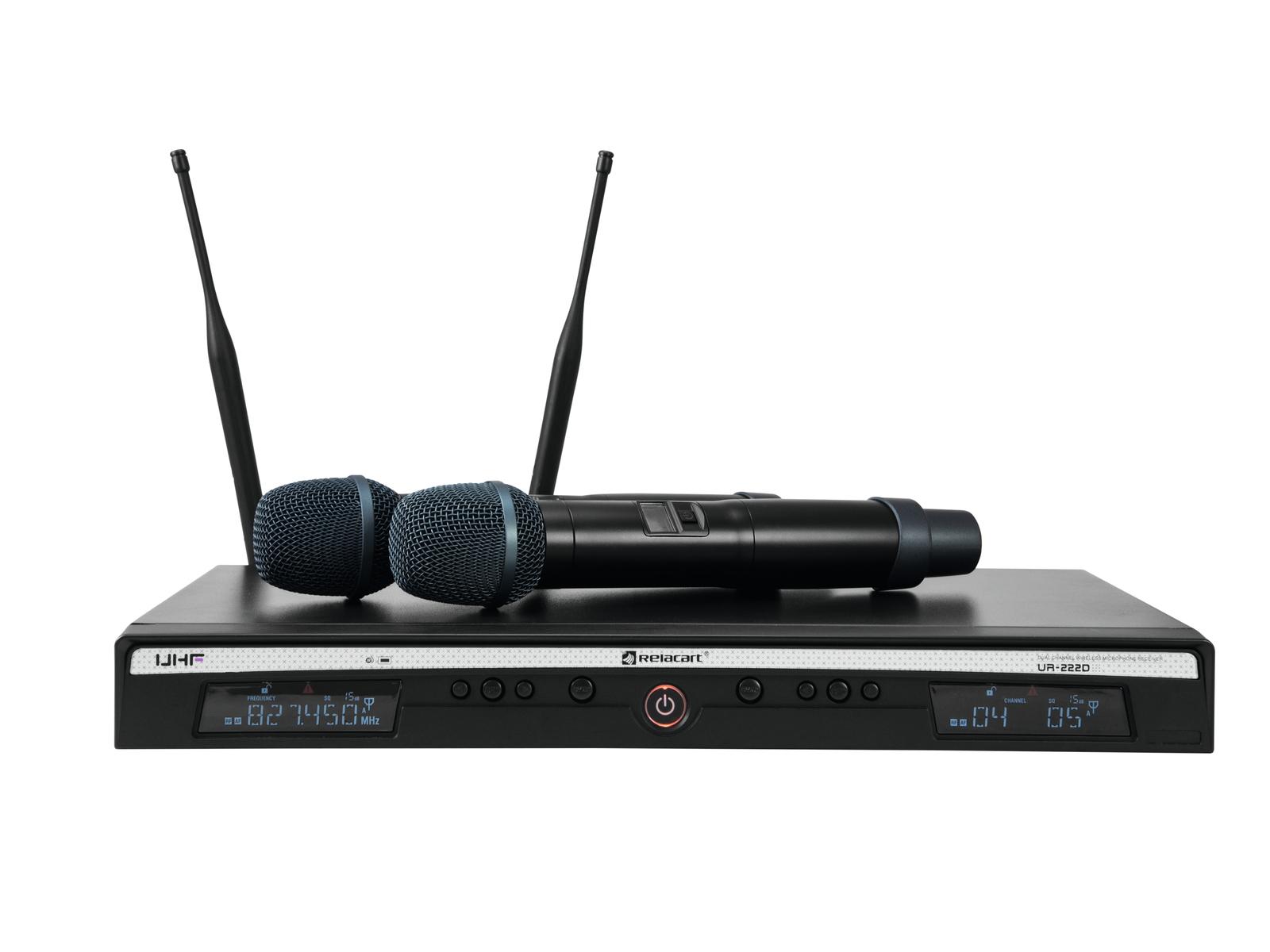Doppio RadioMicrofono senza fili Wireless UHF 823-832 MHz and 863-865 MHz
