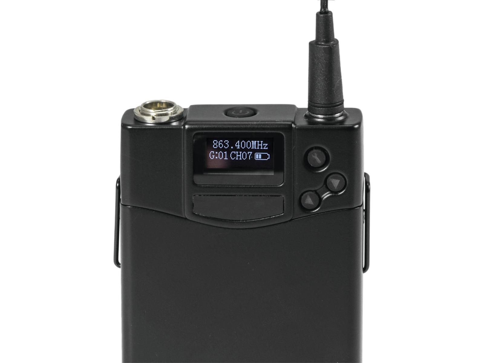 RELACART UT-222 Bodypack mit HM-800S Headset