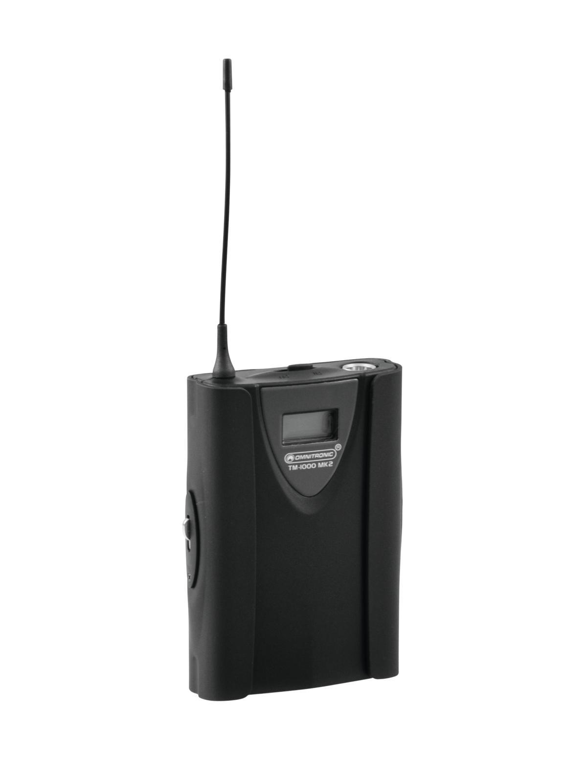 OMNITRONIC TM-1000 MK2 trasmettitore Tascabile Copertura 100 m