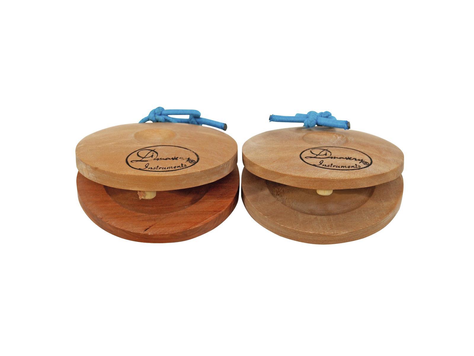 Nacchere a coppia, in legno marrone chiaro 2x DIMAVERY