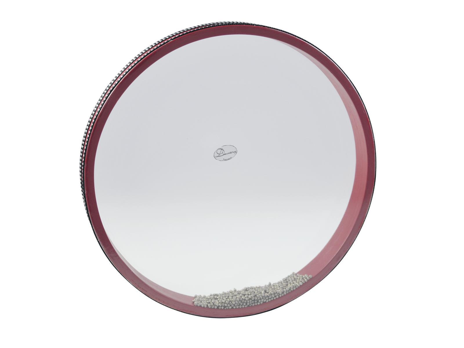 Ocean Drum, piccolo, riempito con sfere di metallo, rosa DIMAVERY