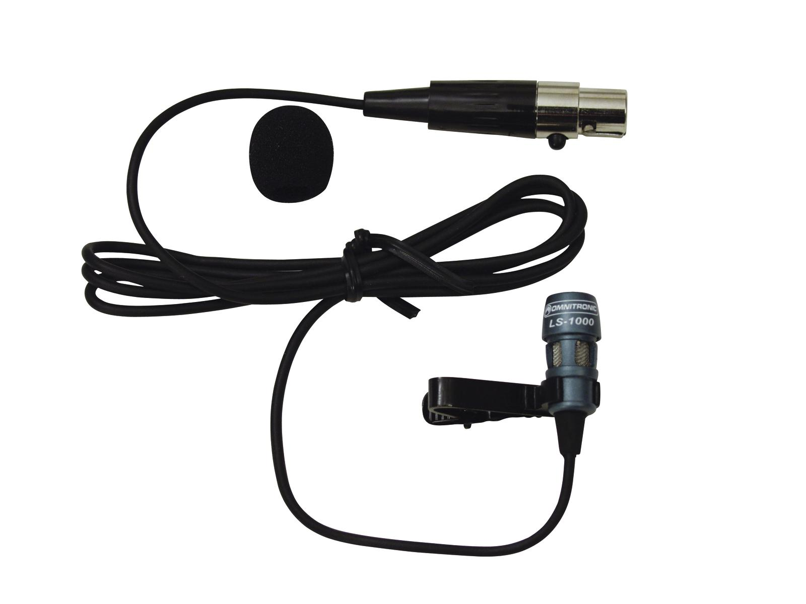 Microfono lavalier pulce OMNITRONIC LS-1000 XLR