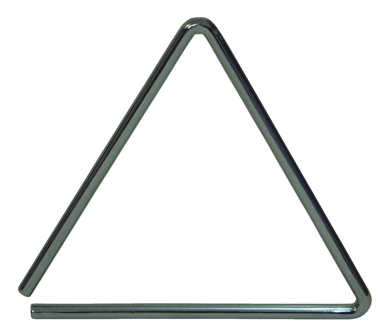 Triangolo 13 cm con battente, acciaio, colore argento, DIMAVERY