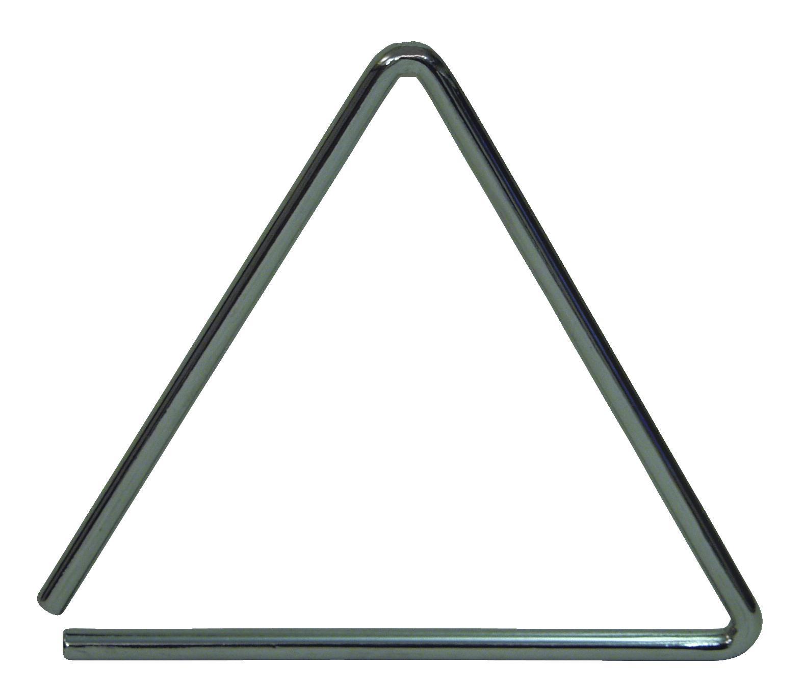 Triangolo 15 cm con battente, acciaio, colore argento, DIMAVERY