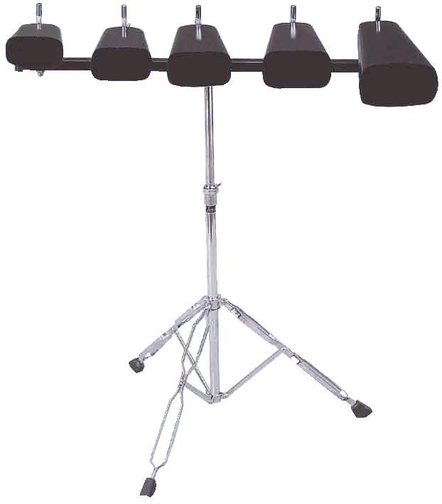 Campana Mucca, Set con stand, nero DIMAVERY DP-10