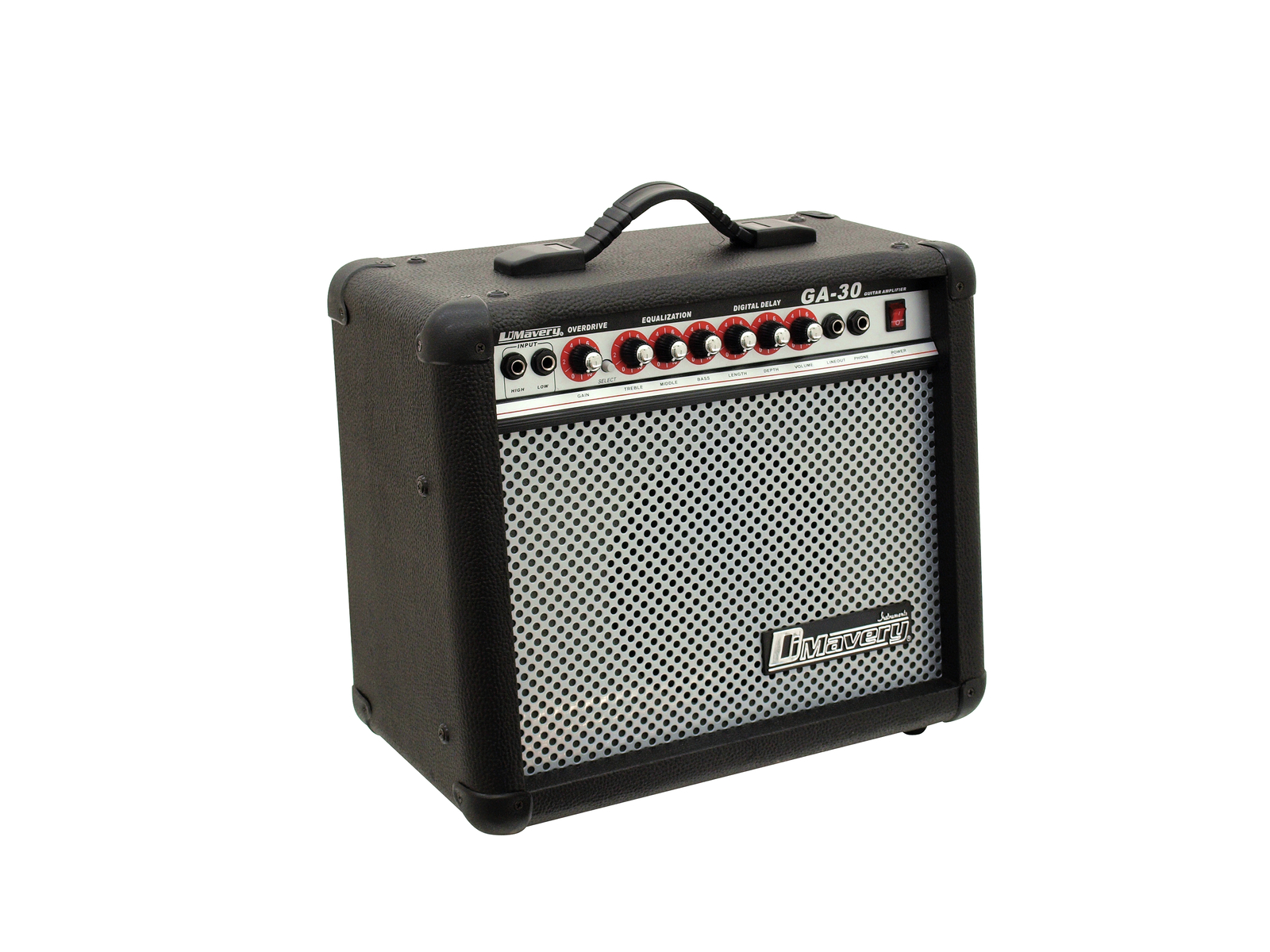 Amplificatore per chitarra 30w woofer 20.32 cm 8. Nero DIMAVERY GA-30R