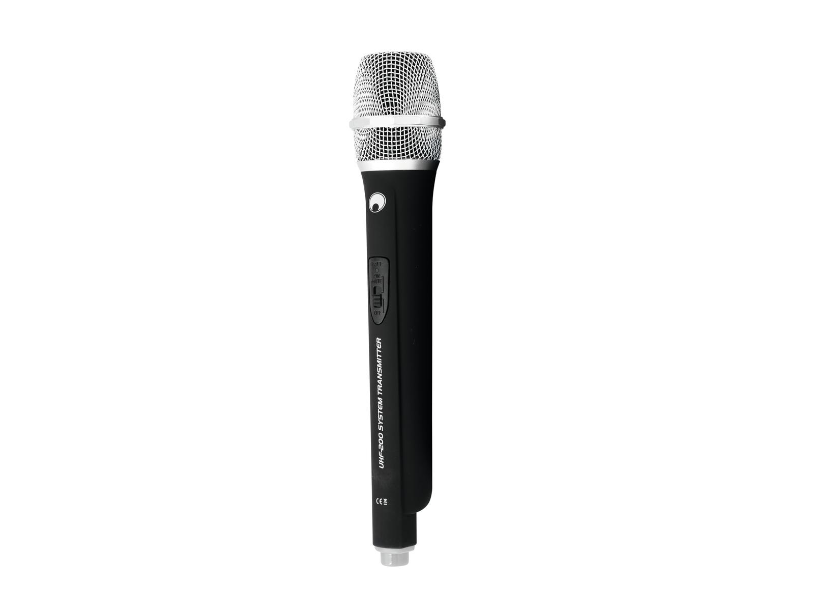 OMNITRONIC Microfono UHF-200 (830.900 MHz) (bianco)