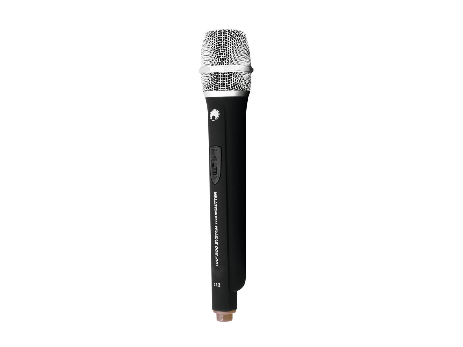 OMNITRONIC Microfono UHF-200 (824.925 MHz) (marrone)