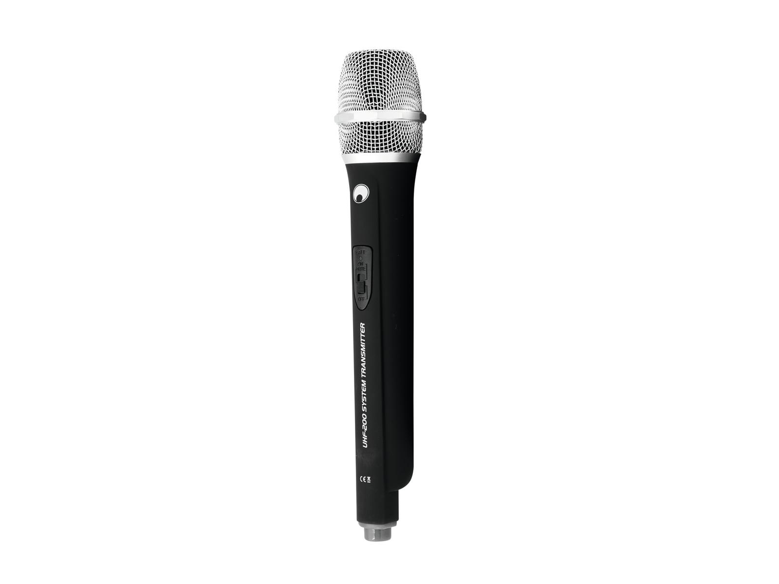 OMNITRONIC Microfono UHF-200 (828.250 MHz) (grigio)