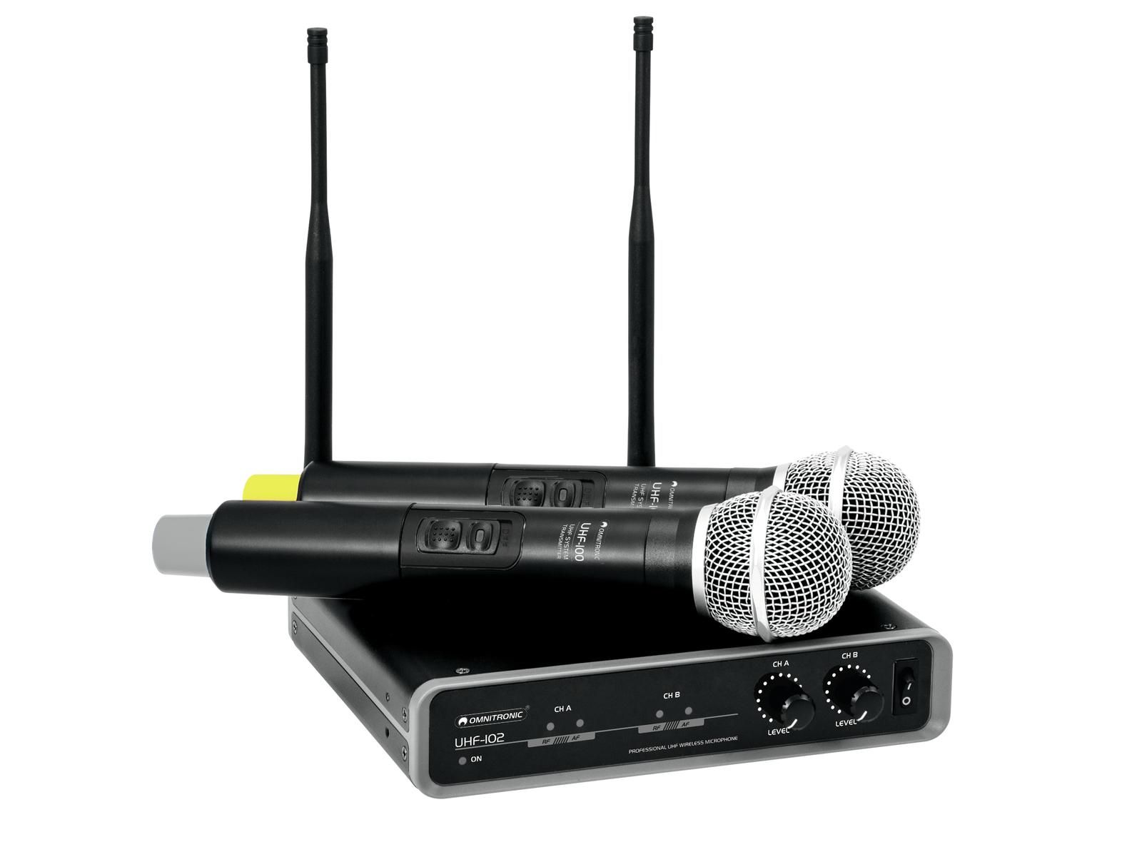 OMNITRONIC UHF-102 Mic senza f