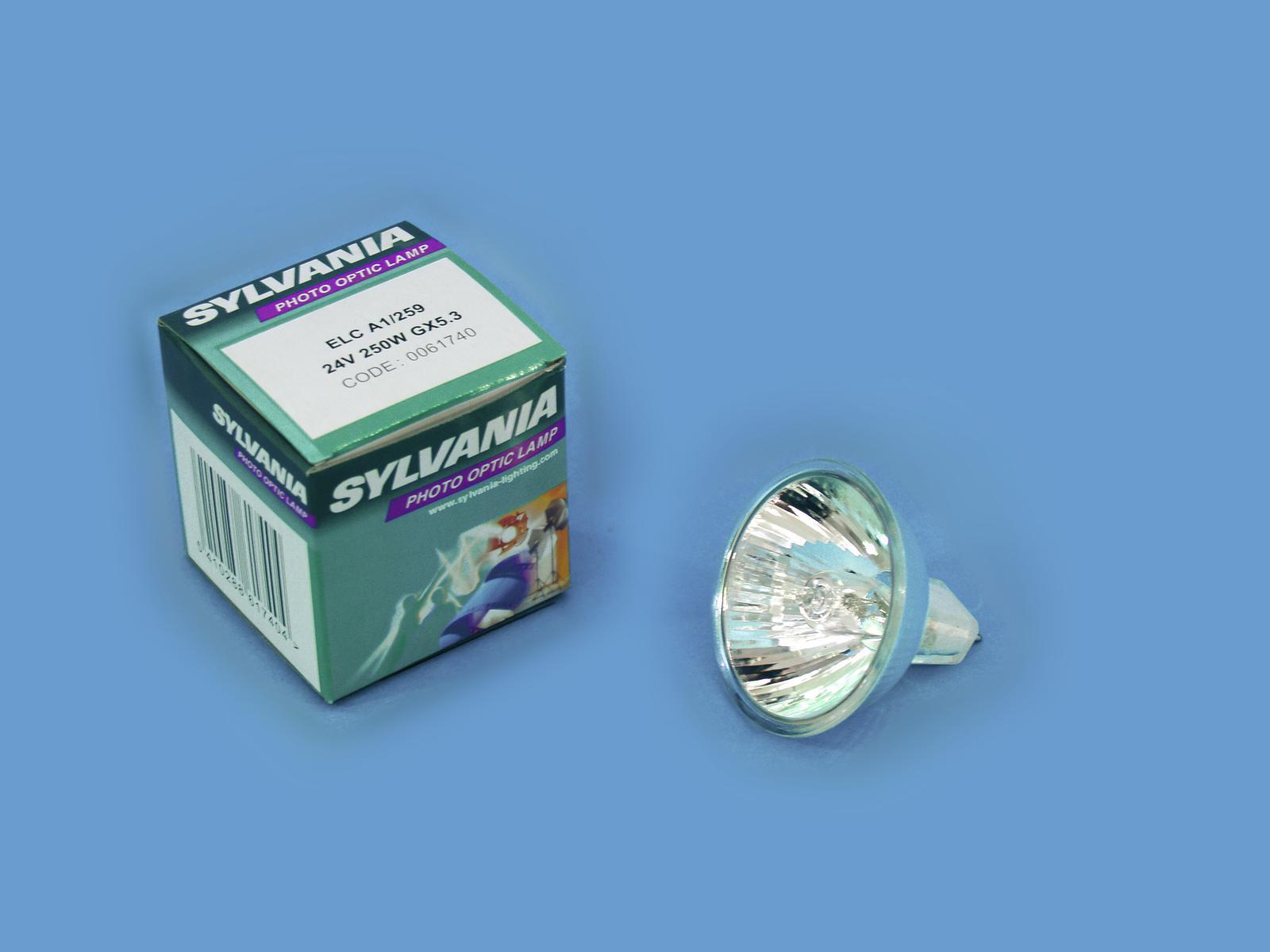 SYLVANIA ELC A1/259 24V/250W GX 5.3 50mm
