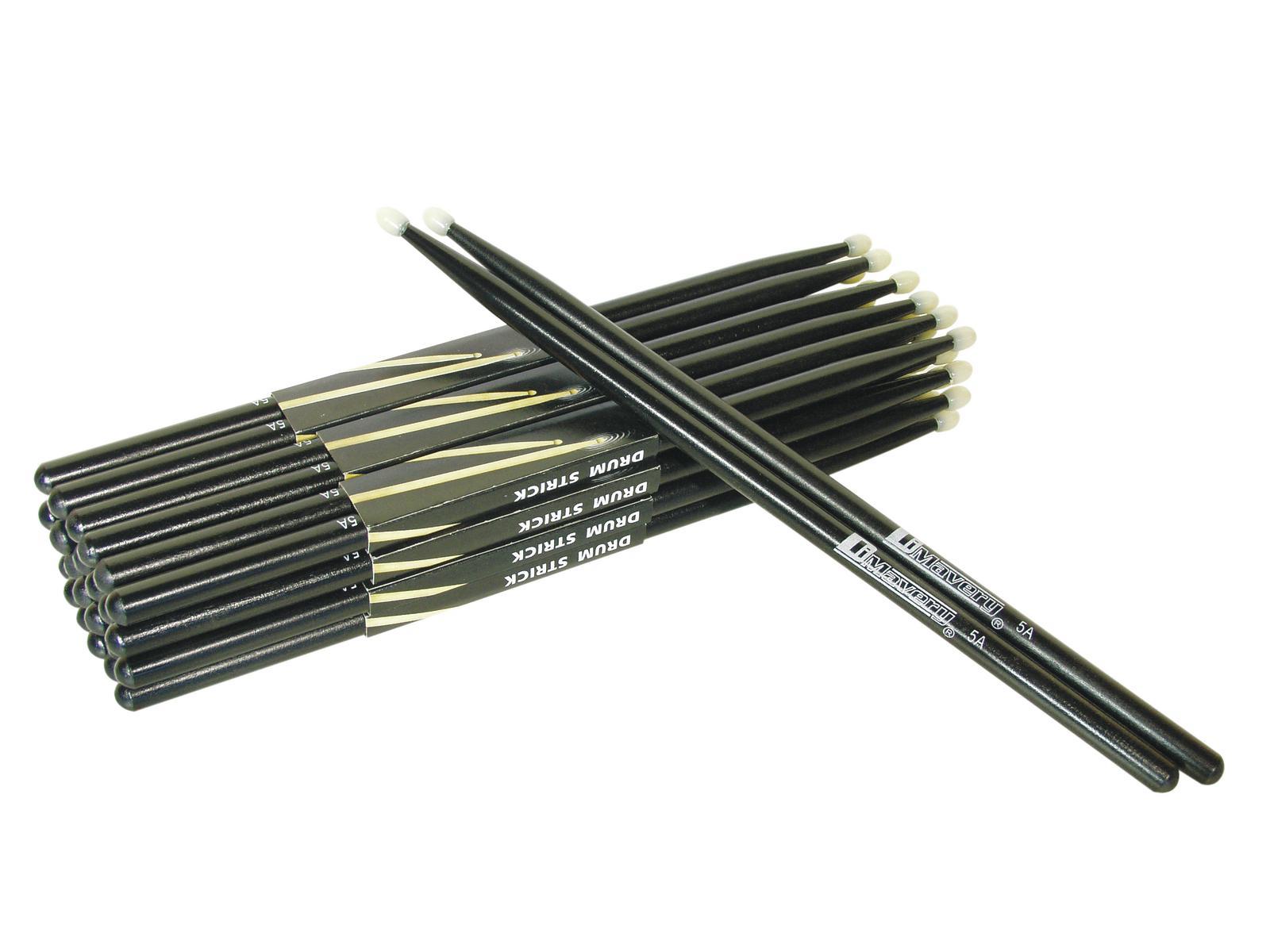 Coppia di bacchette per batteria in Acero 5A colore nero Dimavery DDS-5A