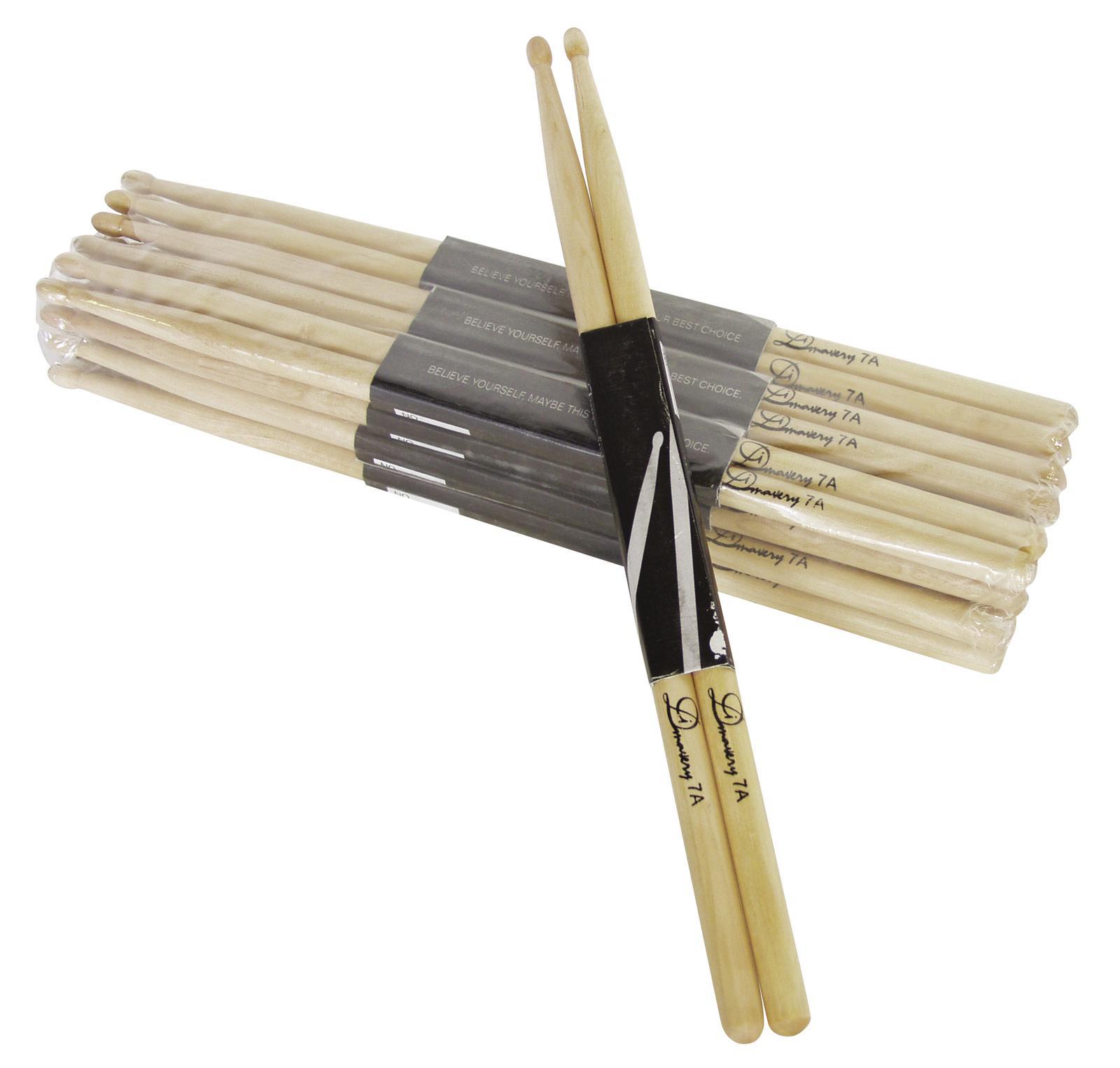 Coppia di bacchette per batteria in acero 7A con punta in legno Dimavery DDS-7A