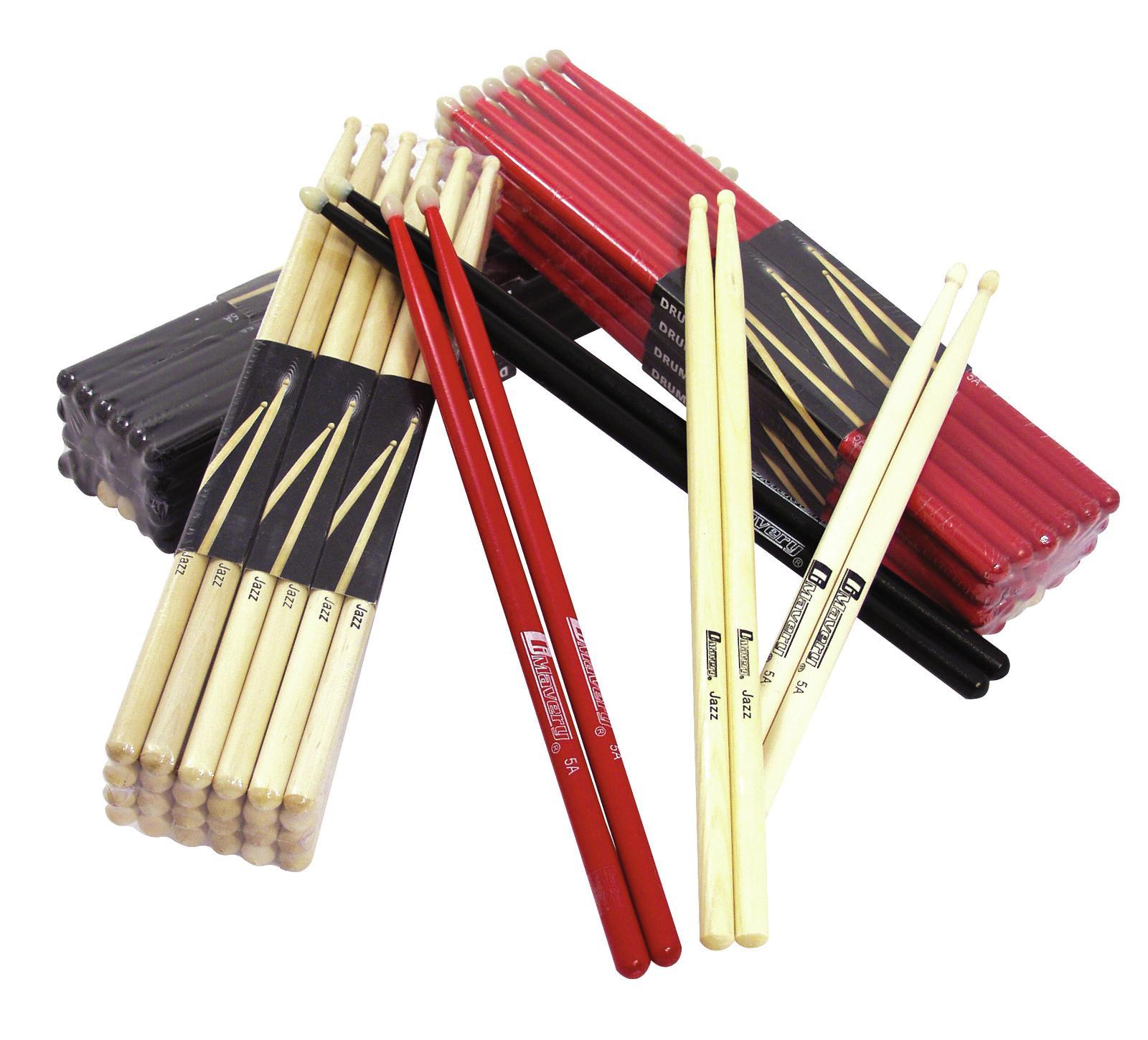 Coppia di bacchette per batteria, jazz, acero, color legno DIMAVERY DJDS