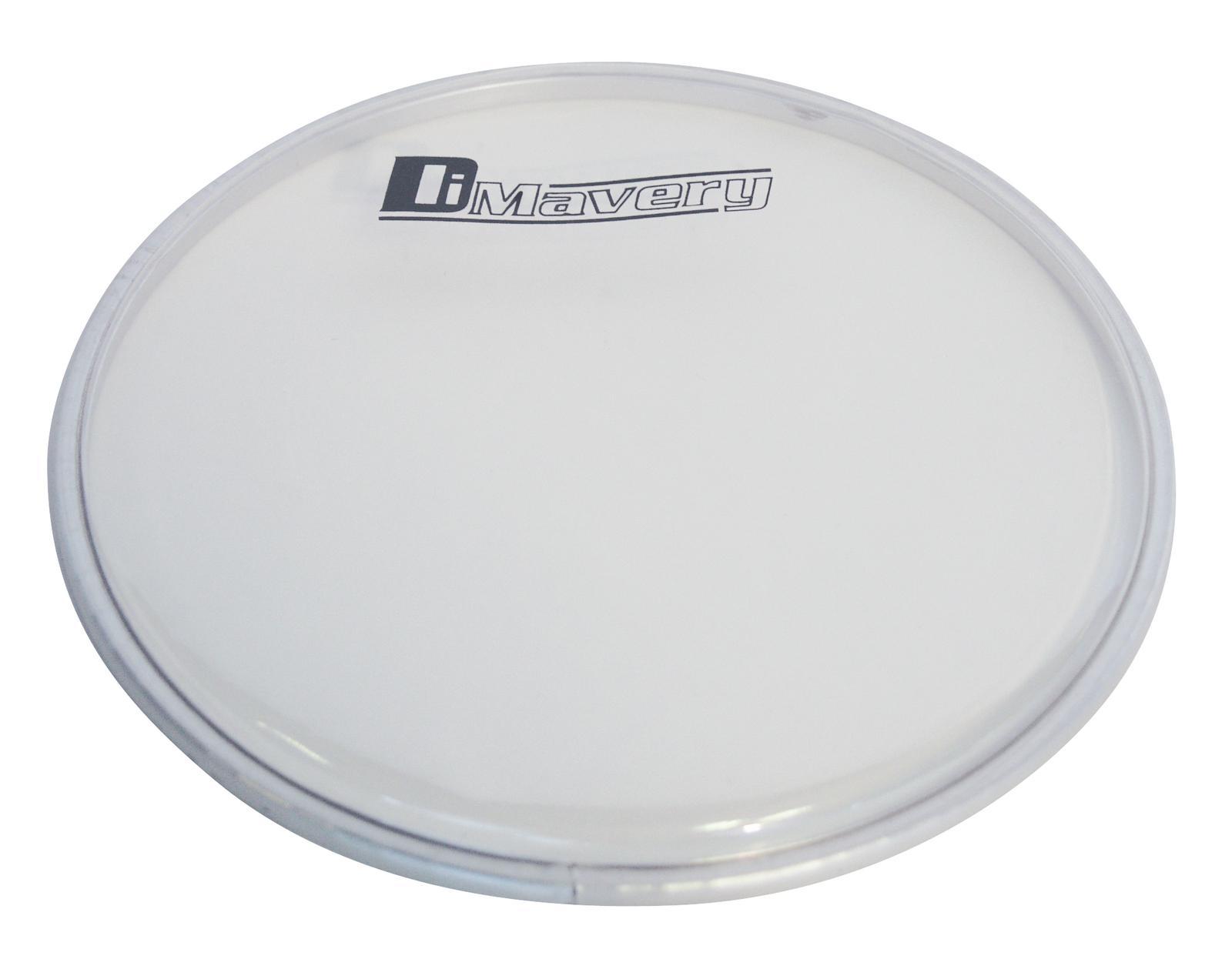 Pelle per batteria acustica tamburo powerring bianco chiaro Dimavery DH-11